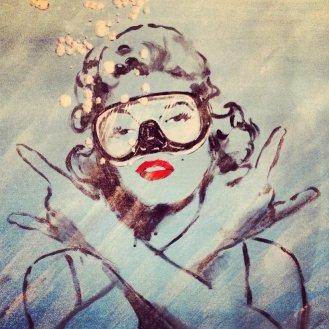 Blub-Street-Art-Aquatique-Marilyn