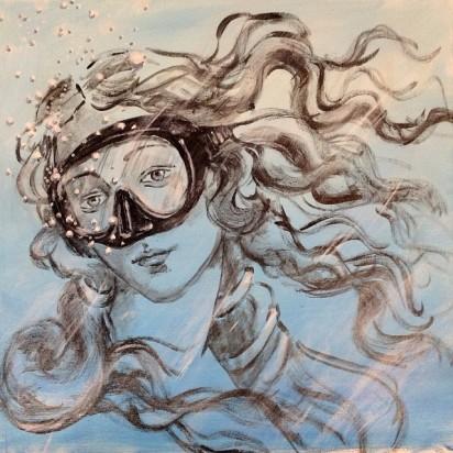Blub-Street-Art-Aquatique-Venus-Botticelli