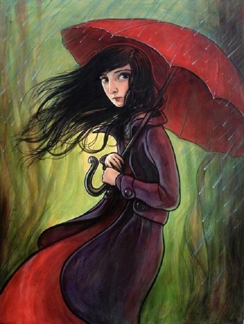 red-umbrella-print